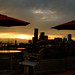 Sunset view from the roof patio. Seattle, WA. August 2016.