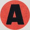 Vintage Sticker Letter A