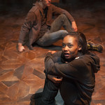 Ashleigh LaThrop (Leila) and Josh Salt (Lee) in YELLOW MOON at Writers Theatre. Photo by Michael Brosilow.