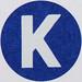 Vintage Sticker Letter K