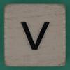Spill and Spell Dice Letter V