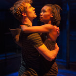 Josh Salt (Lee) and Ashleigh LaThrop (Leila) in YELLOW MOON at Writers Theatre. Photo by Michael Brosilow.