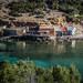 Ibiza - Casetas varadero en Benirras  --  Booths slipway in Benirras