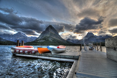 Swiftcurrent Lake HDR photo by Brandon Kopp