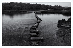 Crossing the Ewenny River at Ogmore Castle (Explored) photo by dean.cummings