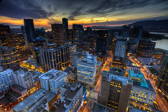 Downtown Vancouver sunset photo by Basic Elements Photography