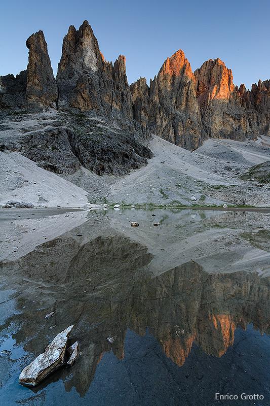 La prima luce | Pale di San Martino | Dolomiti - The first light | Dolomites photo by Enrico Grotto