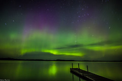 Aurora Borealis over Burntside Lake, Ely, MN photo by RSBurnsIM