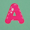 Puffy Sticker Letter A