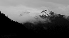 Snow above Ketchikan
