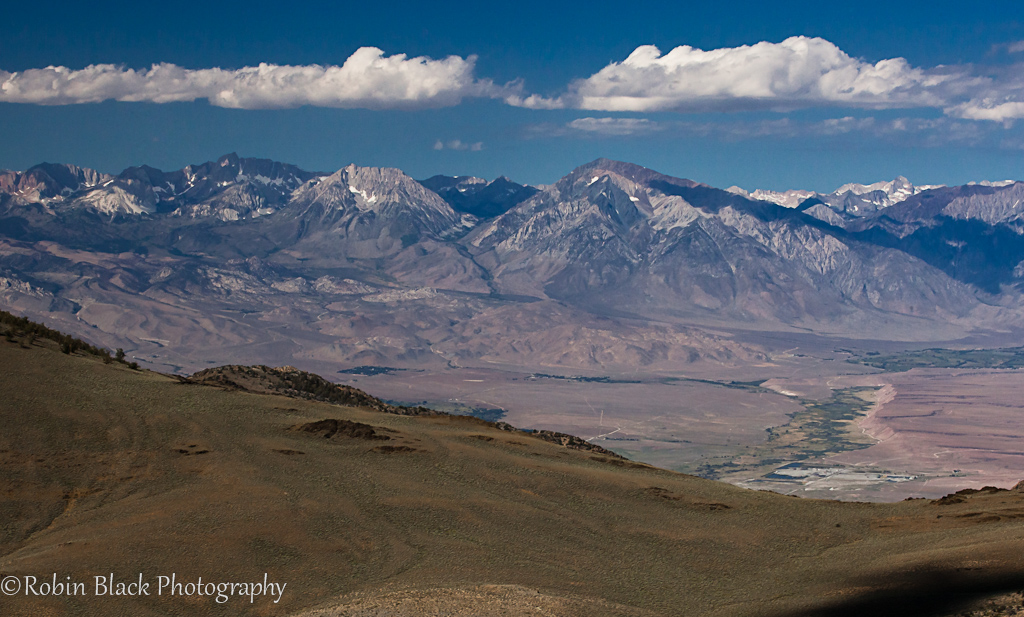 Sierra Crest, as seen from the White Mountains photo by Robin Black Photography