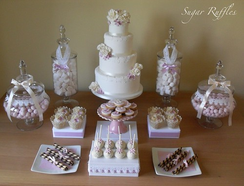 Pink and White Dessert Table photo by Sugar Ruffles