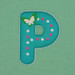 Puffy Sticker Letter P