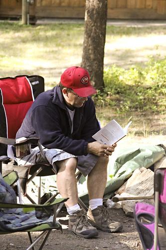 Ken studying