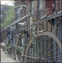 Vintage Green Schwinn, Kodak Portra 400 photo by Shawn Hoke
