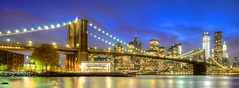 Blue Hour & Brooklyn Bridge photo by Luís Henrique Boucault