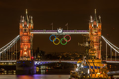 Golden Tower Bridge at London Olympics 2012 photo by Paul Parkinson LRPS (parkylondon)