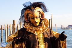 San Marco, Golden Mask at the Carnival of Venice, Venezia, Italy photo by Photos Girados