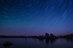 Star Trail and Aurora Borealis at Mono Lake, California photo by Zolashine