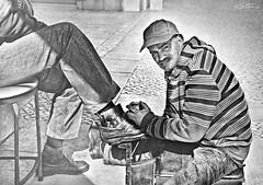 Shoeshine Man photo by Ben Heine