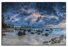 greenmount/coolangatta beach sunset panorama photo by Jayde Aleman