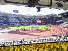 Olympic Stadium athletic track photo by moonsetsky