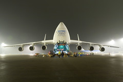 Antonov 225 being loaded at Schiphol photo by Tim de Groot - AirTeamImages