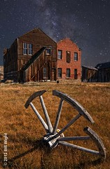 Bodie Hotel and Milky Way photo by Bill Wight CA