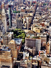 Flatiron Building and New York City Skyline From Above photo by Vivienne Gucwa