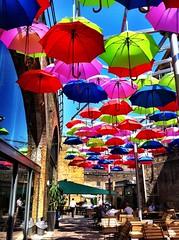 Umbrellas, Borough Market photo by {Laura McGregor}