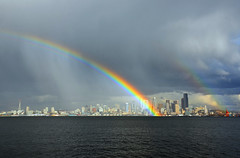 rainbow over seattle 1 6985 - Explore photo by Light of the Moon Photography