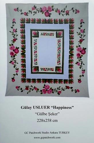 <b>Avrupa Patchwork Şampiyonası</b><div>Gülay Usluer &quot; Happiness &quot;</div>