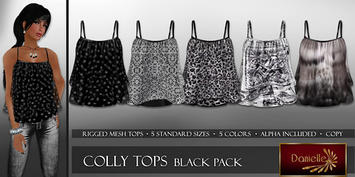 DANIELLE Colly Tops Black Pack