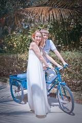 With blue bike photo by m o d e