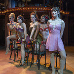 Fandango Girls - Emily Ariel Rogers, Katie Spelman, Ericka Mac, Karen Burthwright and Tiffany Topol in SWEET CHARITY at Writers Theatre. Photo by Michael Brosilow.