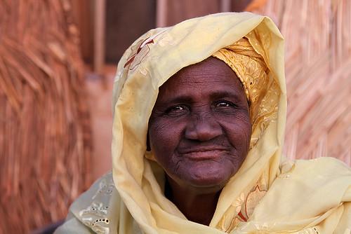 Portrait of a market lady in Ouagadougou, Burkina Faso.