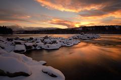 Fresh Snow on Yukon River photo by kdee64