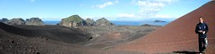 Vestmannaeyjar, panorama + Karlo + volcano photo by Hirike