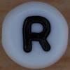 White Bead letter R