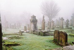 Misty Cemetery - Kodak Retinette photo by Douglas Herbert