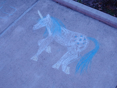 Unicorn in Chalk