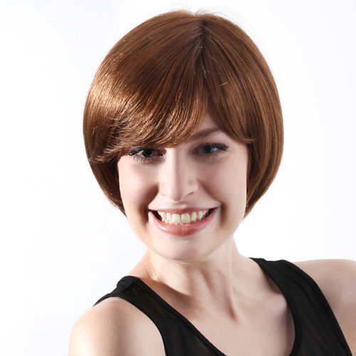 Blended Hair Wigs Hair And Synthetic Blend