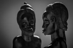 Ebony gazes photo by Michel Couprie