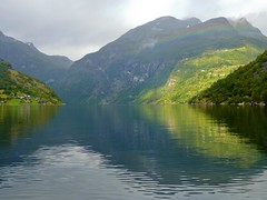 View from Geiranger into the Geirangerfjord (Unesco WHS) photo by Frans.Sellies