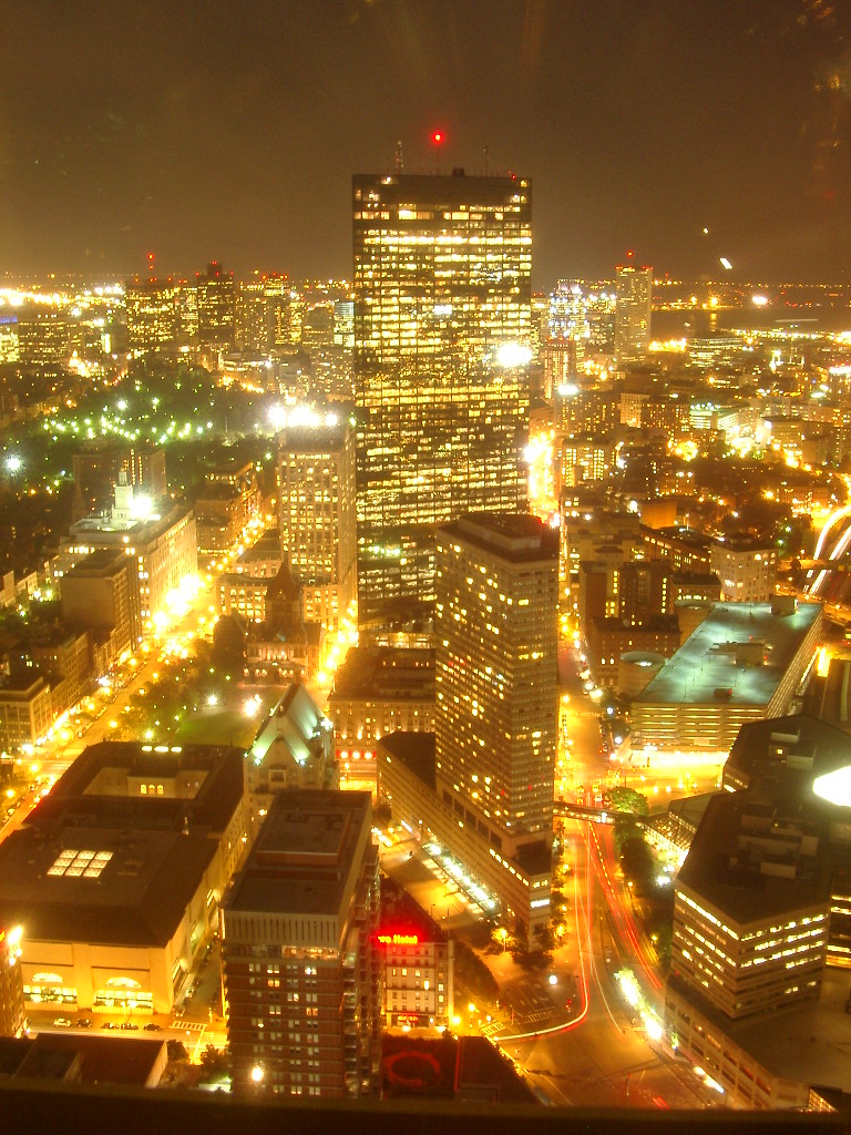 night view from Prudential Skywalk