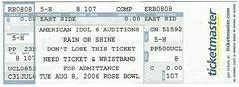 Idol Auditions Seat Ticket