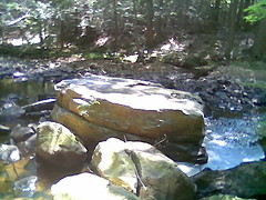 large rocks in a river