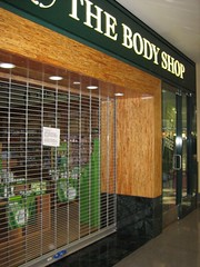 Picture of a closed The Body Shop