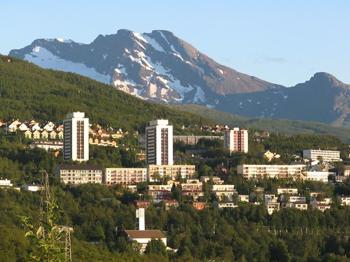 A view from camping site of Narvik