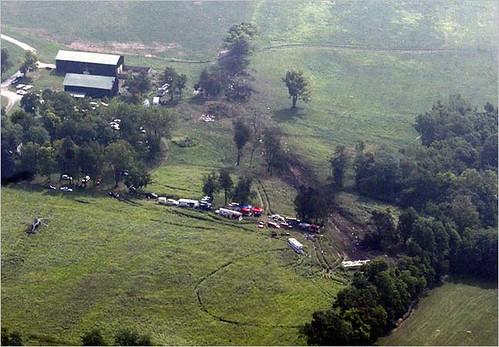 Crash scene Lexington KY
